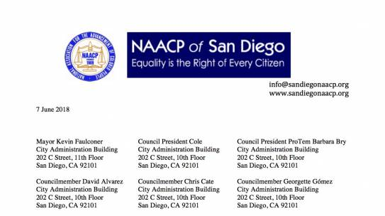 Letter to the City of San Diego Regarding Equal Opportunity in City Contracts