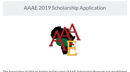 AAAE Scholarships Available