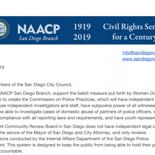 We Need Change in Citizen Oversight of the SDPD