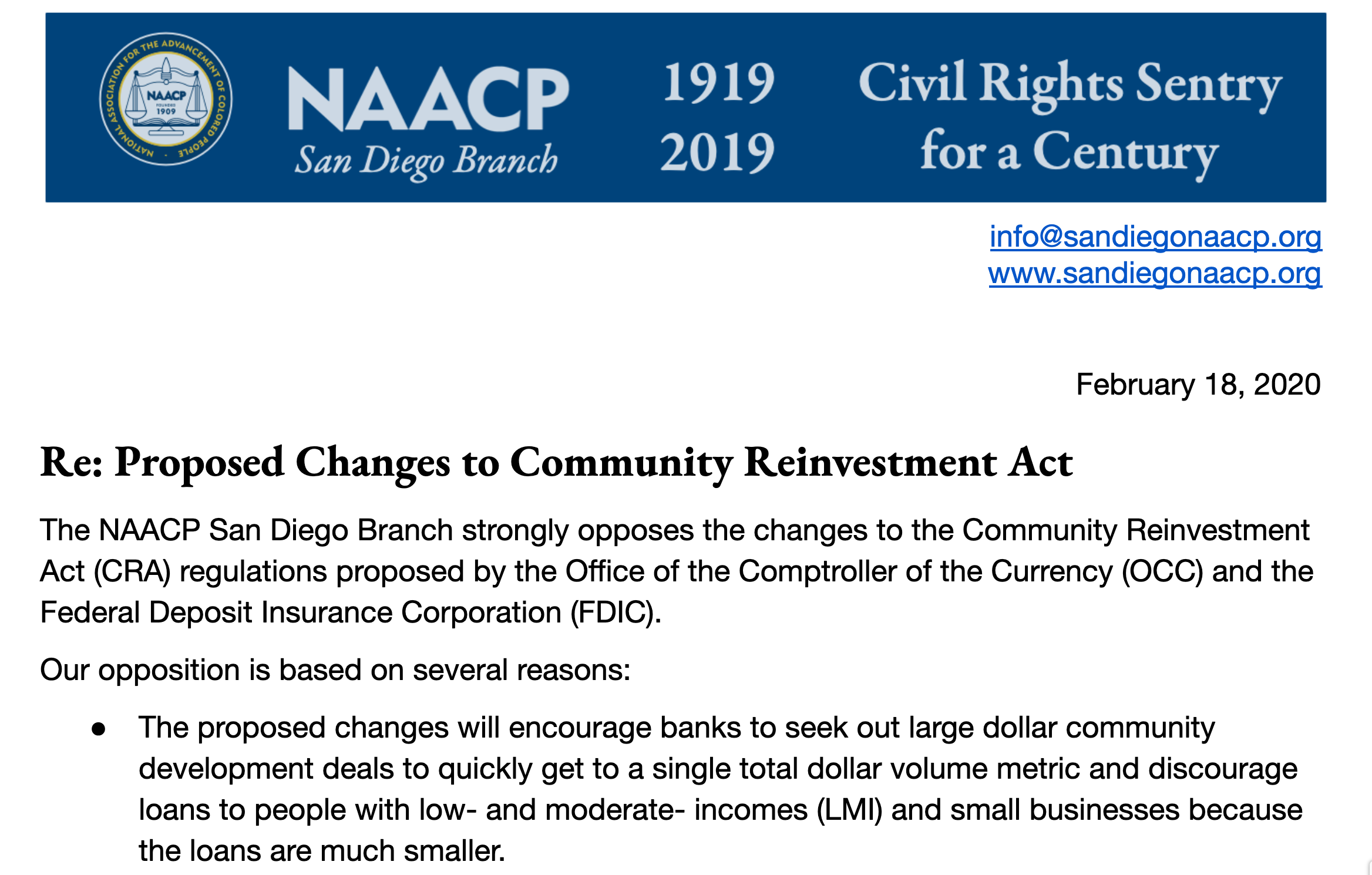 Community Reinvestment Act: Harmful Changes Proposed