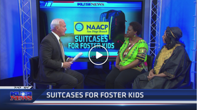 Watch: Suitcases for Foster Kids on KUSI