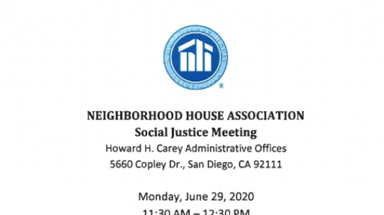 Neighborhood House Racial Justice Meeting