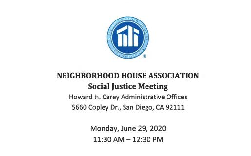 Neighborhood House Racial Justice Meeting