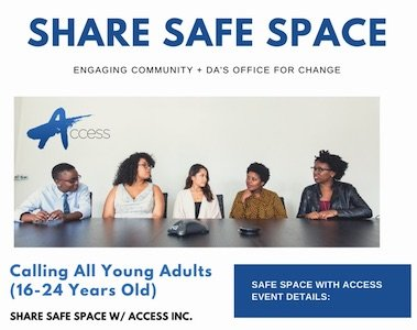 Sep 9: Young Adult Safe Space with DA