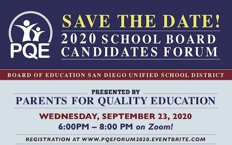 Sep 23: SDUSD Candidate Forum