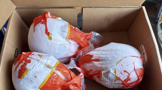 The Branch Helps Distribute 110 Turkey Dinners