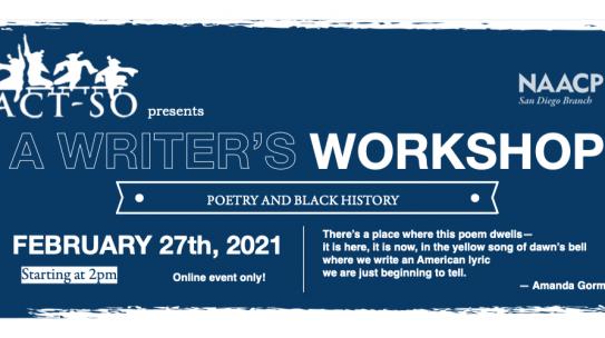 Feb 27: ACT-SO Writer's Workshop